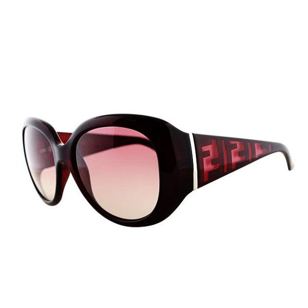 FENDI 時尚 LOGO太陽眼鏡 紫紅色 5357