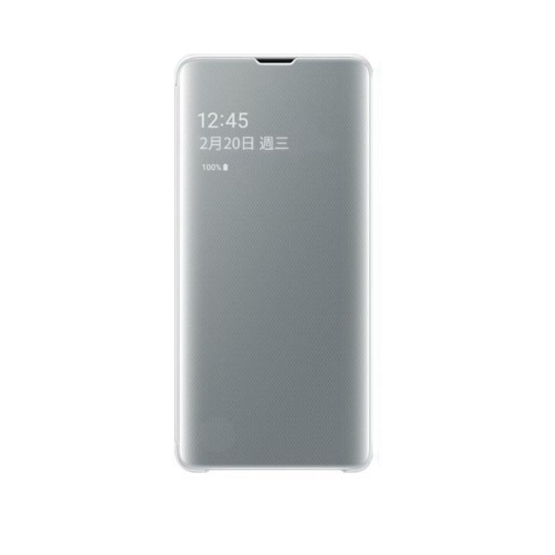 SAMSUNG Galaxy S10 全透視感應皮套 白