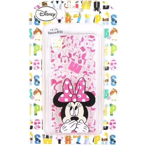 【Disney】HTC Desire 830 / D830x 摀嘴系列 彩繪透明保護軟套(米妮)