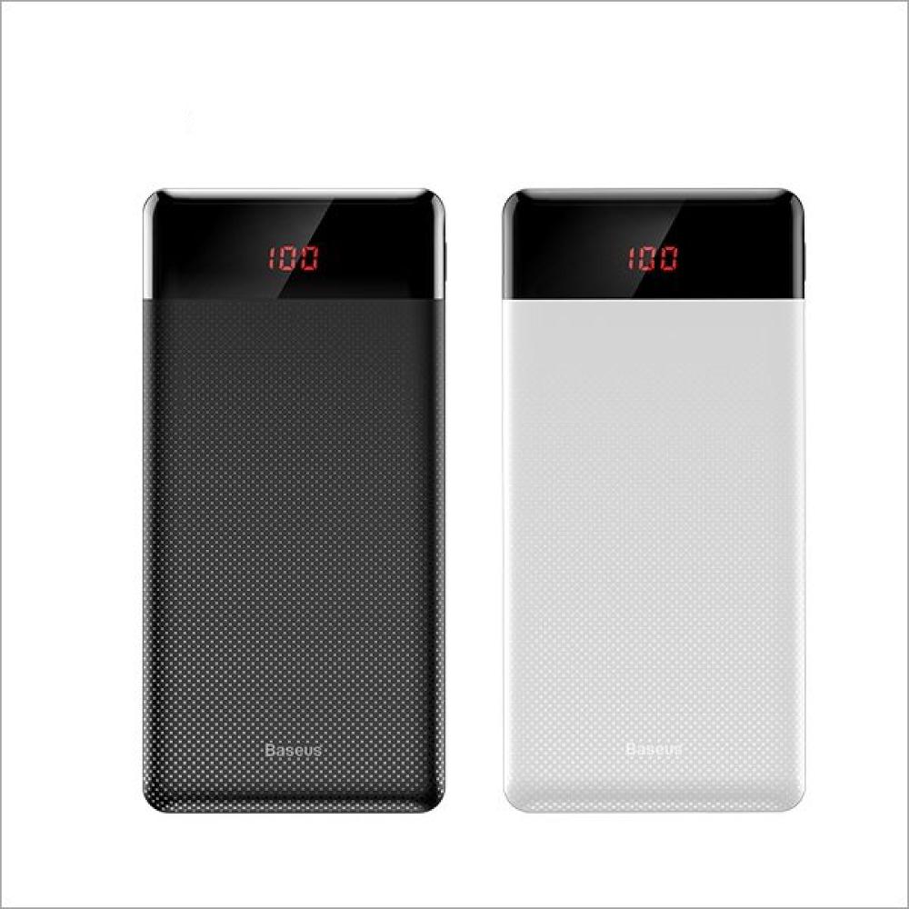 Baseus 倍思 小酷數顯版雙 USB 10000mAh行動電源 - 白色