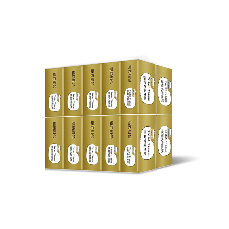 【簡約組合】優質抽取式衛生紙200抽x20包x3串/箱(金)