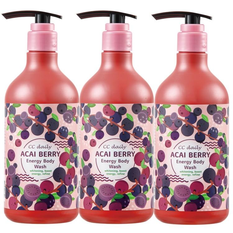 《台塑生醫》CC daily巴西莓果能量沐浴乳580g*3入