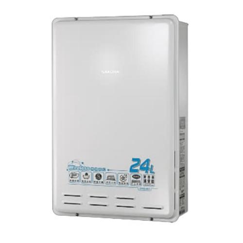 (全省安裝)櫻花數位式24公升無線遙控智能恆溫(與DH2460/DH-2460同款)熱水器桶裝瓦斯DH2460L
