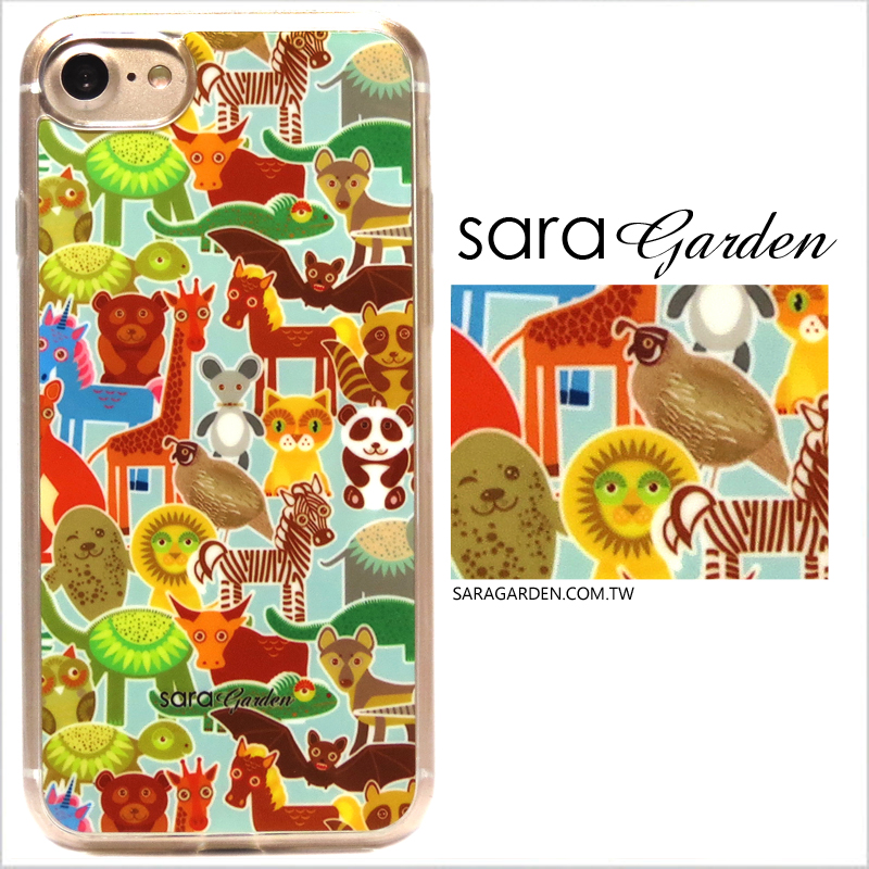 【Sara Garden】客製化 軟殼 蘋果 iPhone 6plus 6SPlus i6+ i6s+ 手機殼 保護套 全包邊 掛繩孔 手繪動物