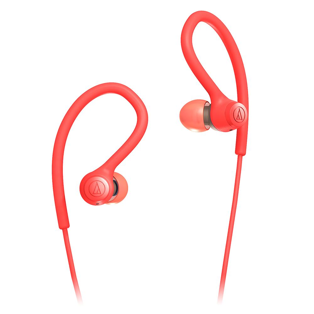 鐵三角 ATH-SPORT10 粉紅色 防水防汗 耳掛式 運動耳機