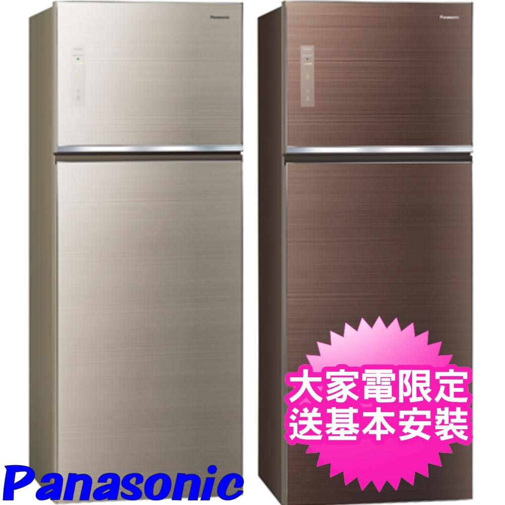 【Panasonic國際牌】485公升玻璃雙門變頻冰箱 翡翠金 NR-B489TG-N