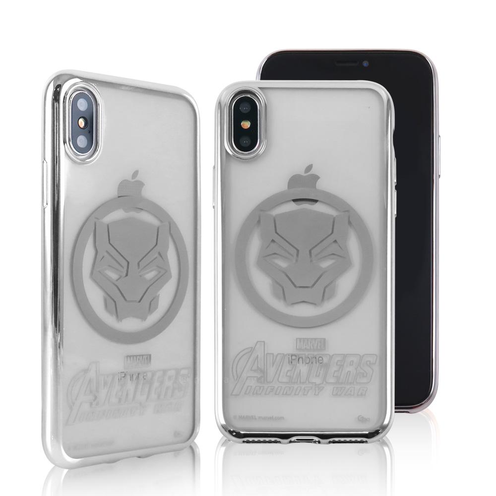 MARVEL漫威 iPhone X 復仇者聯盟3 電鍍時尚保護殼套_英雄徽章