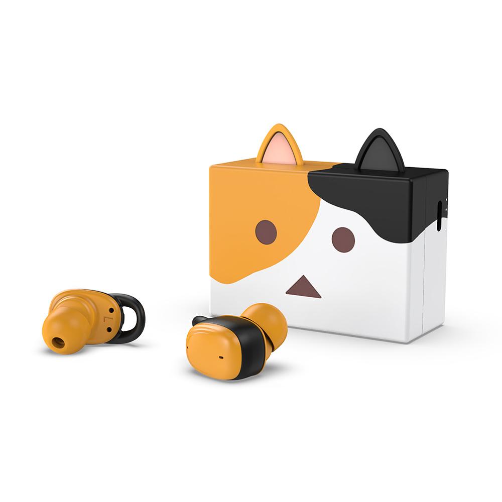 cheero貓咪阿愣藍牙5.2無線耳機 - 三毛
