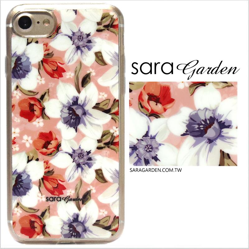【Sara Garden】客製化 軟殼 蘋果 iPhone7 iphone8 i7 i8 4.7吋 手機殼 保護套 全包邊 掛繩孔 粉嫩碎花