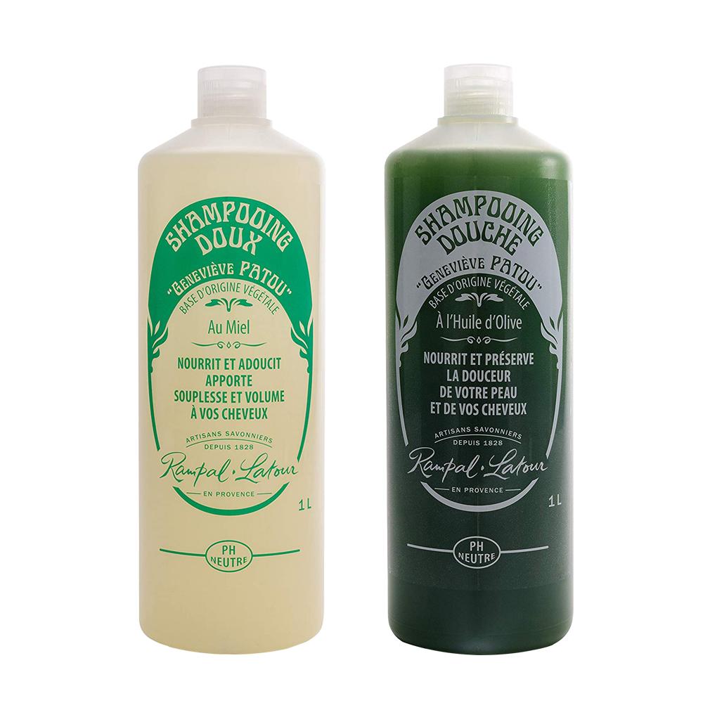 法國Rampal Latour忍冬蜂蜜洗髮精+特級橄欖油沐浴乳