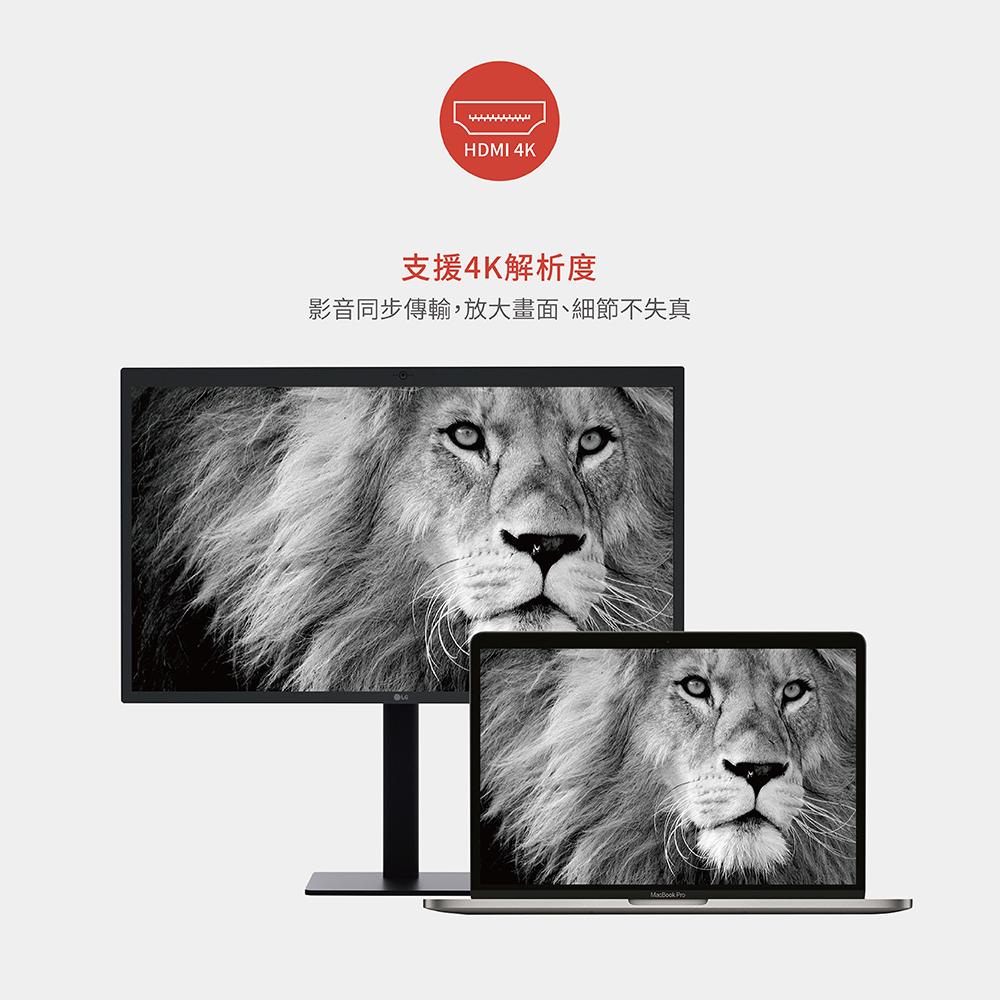 【Soodatek】TypeC TO HDMI Hub/SCDH-AL4KBL鋁合金轉接器