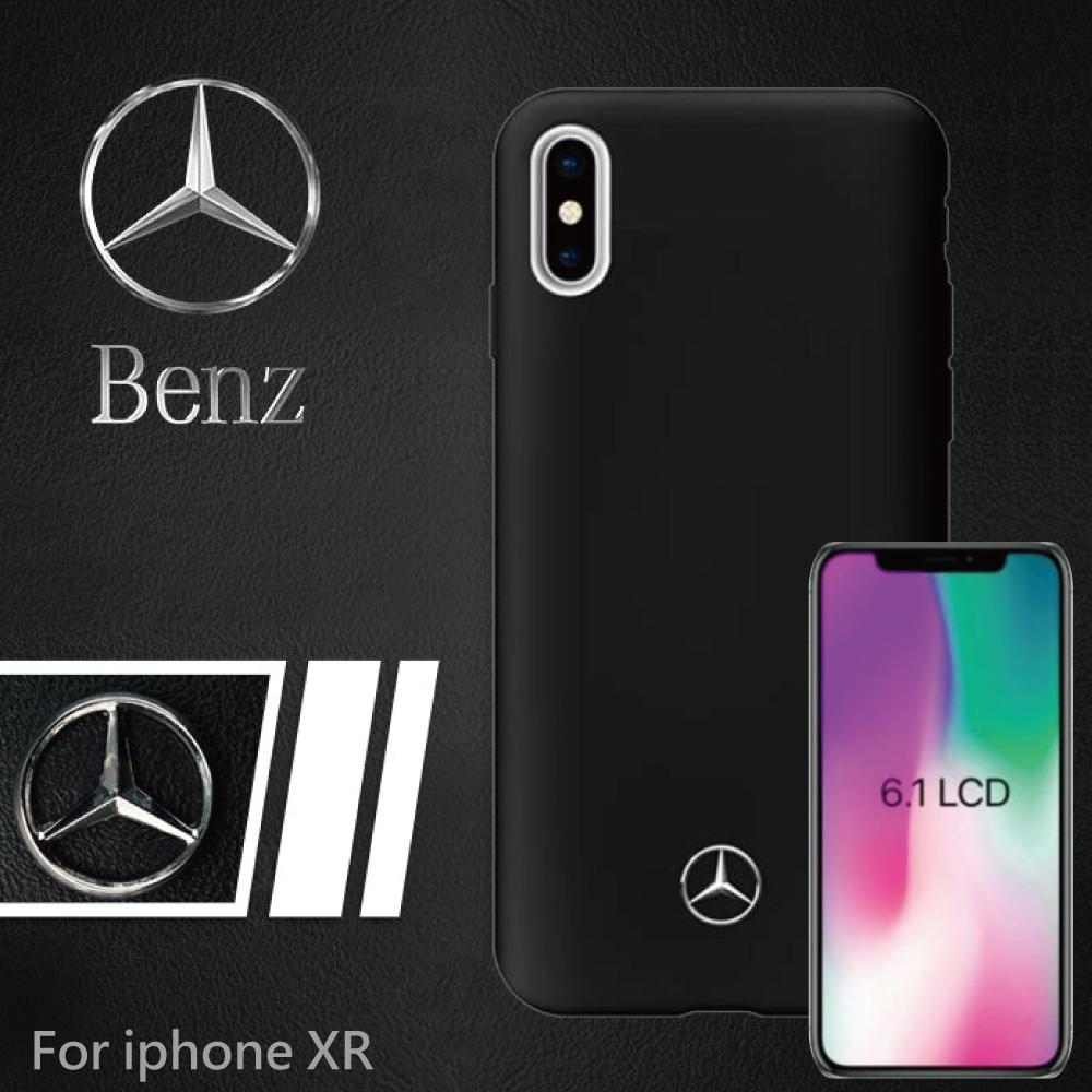 【正版官方授權】BENZ iPhone XR 6.1吋 經典系列背蓋 - 黑色