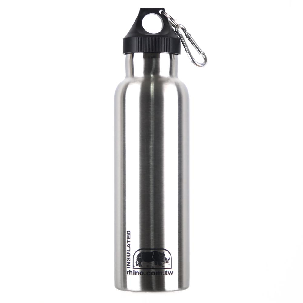 犀牛RHINO Vacuum Bottle雙層不銹鋼保溫水壺600ml-原色