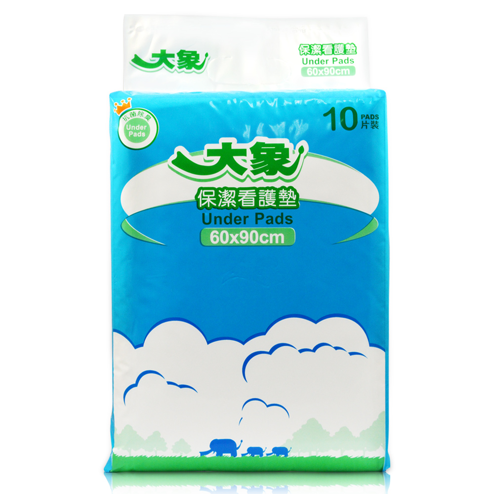大象 保潔看護墊-抗菌除臭新升級60x90cm(10片x10包/箱,共100片)