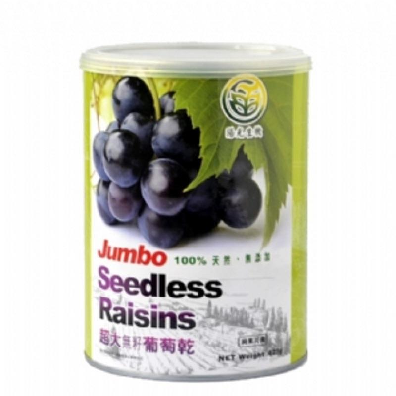 【陽光生機】超大無籽葡萄乾(425g,共5罐)