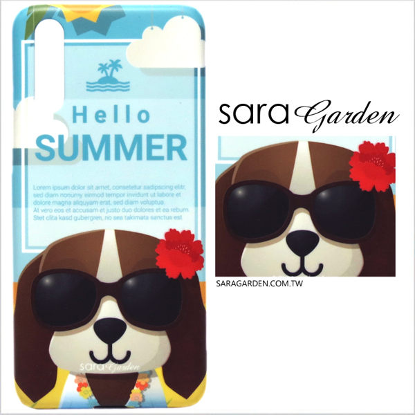 【Sara Garden】客製化 手機殼 蘋果 iphoneX iphone x 保護殼 硬殼 插畫夏威夷狗狗