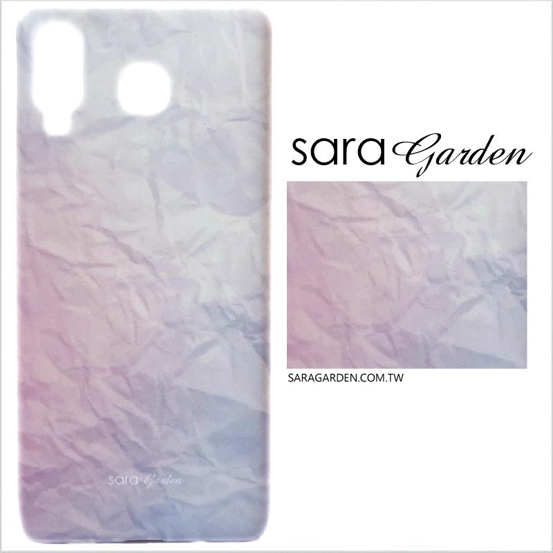 【Sara Garden】客製化 手機殼 三星 A8 Star 雲彩皺褶 保護殼 硬殼