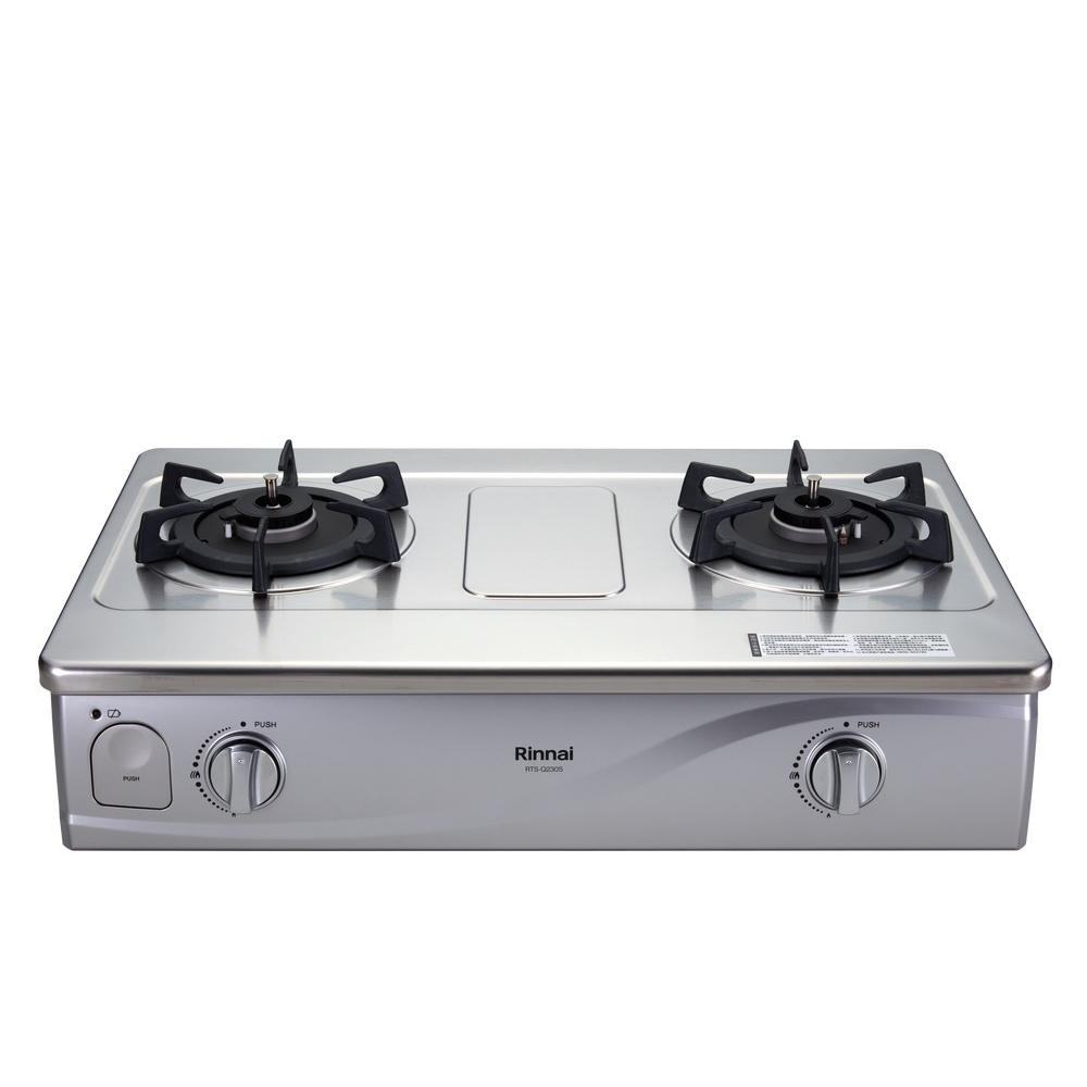 (全省安裝)林內感溫二口爐台爐感溫爐(與RTS-Q230S同款)瓦斯爐RTS-Q230S_NG1