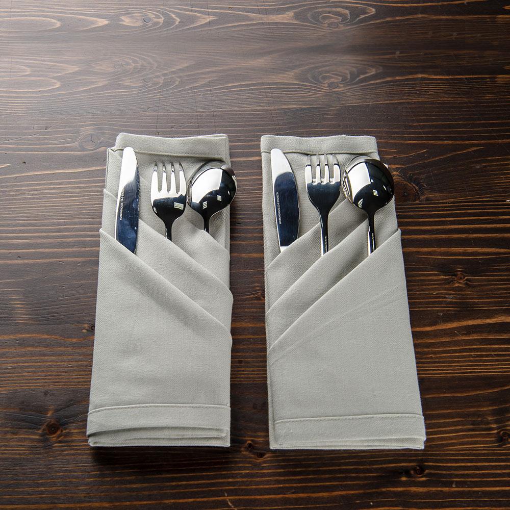 簡約灰餐巾2入組50x50cm-生活工場