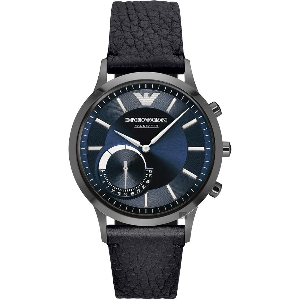 Emporio Armani Connected Hybrid 智慧型腕錶-藍x黑 ART3004