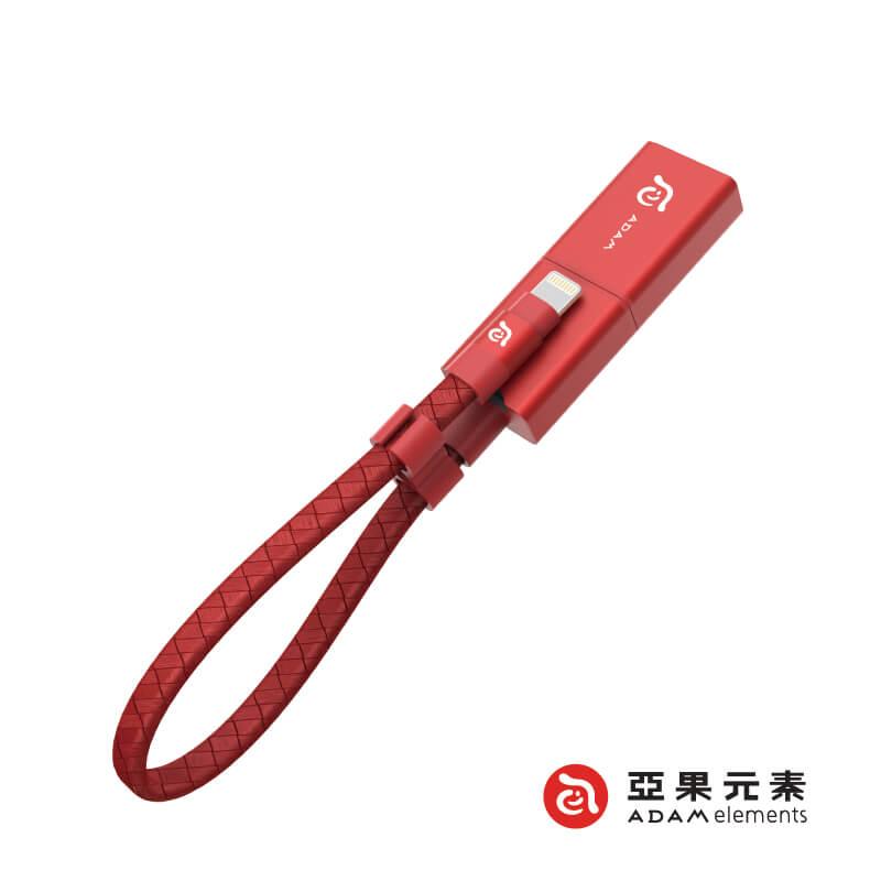 【亞果元素】Wizard 蘋果專用 microSD 三用隨身讀卡儲存碟(附64GB microSD卡) 紅色 新品上市限加贈亞果限定杯墊