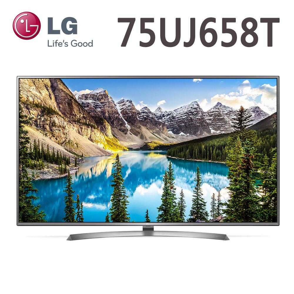 【送基本安裝或壁掛安裝二擇一】LG樂金 75吋 4K UHD智慧連網液晶電視(75UJ658T)