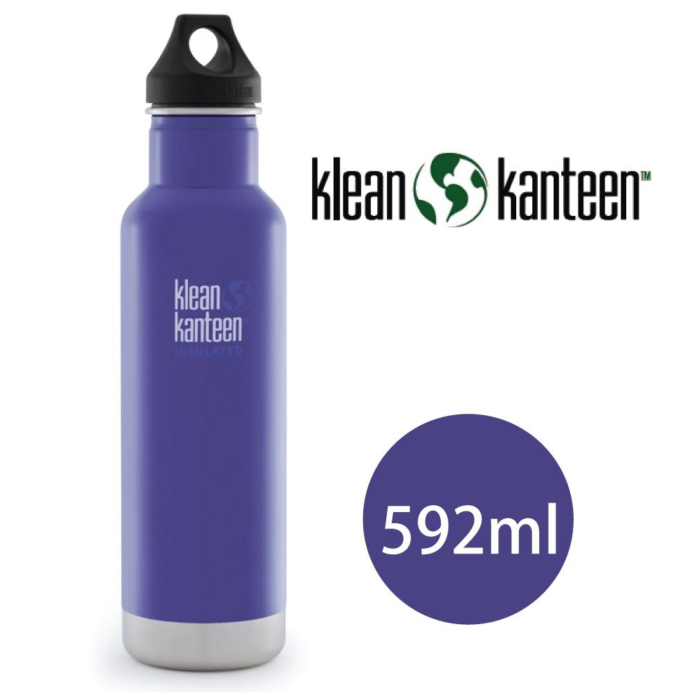【美國Klean Kanteen】窄口不鏽鋼保溫瓶-592ml-鳶尾紫