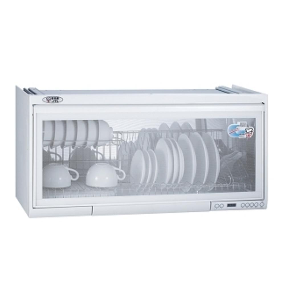 (全省安裝)喜特麗80公分臭氧電子鐘懸掛式JT-3808Q同款)烘碗機白色JT-3680QW
