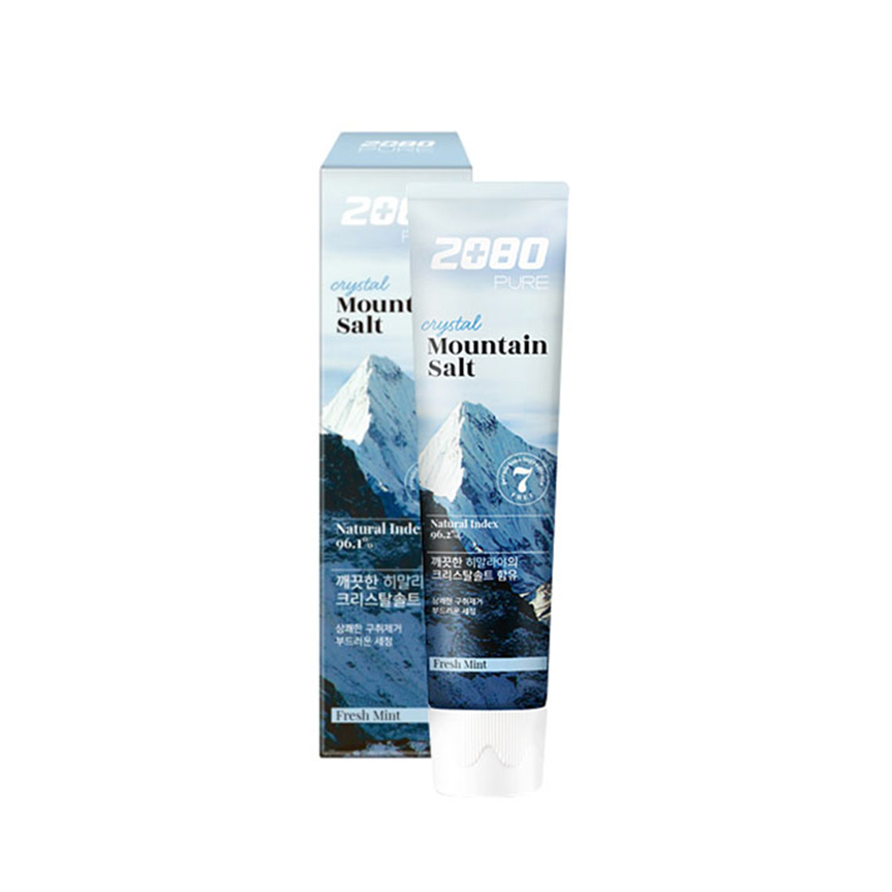【韓國2080】喜馬拉雅山水晶岩鹽牙膏120gX8入