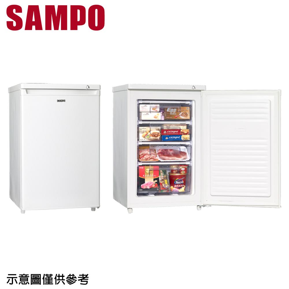 【SAMPO聲寶】87公升直立式冷凍櫃冷凍櫃 SRF-90S(只送不裝)