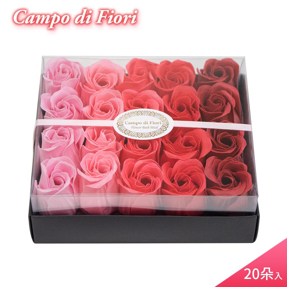【Campo di Fiori】義大利設計香皂花 玫瑰花瓣紙香皂20朵入-紅玫瑰香
