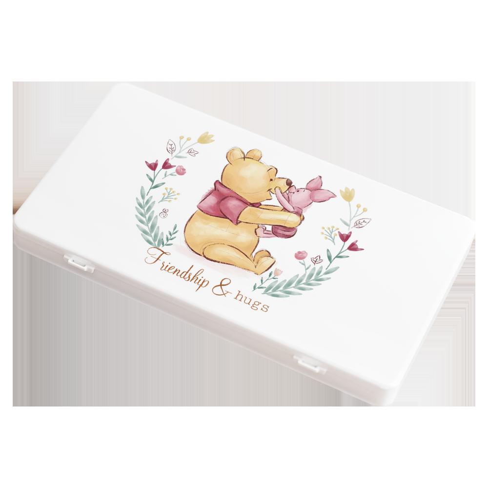 【收納王妃】迪士尼 (花圈維尼)-小熊維尼系列防疫必備口罩盒/零錢盒/收納盒/文具盒