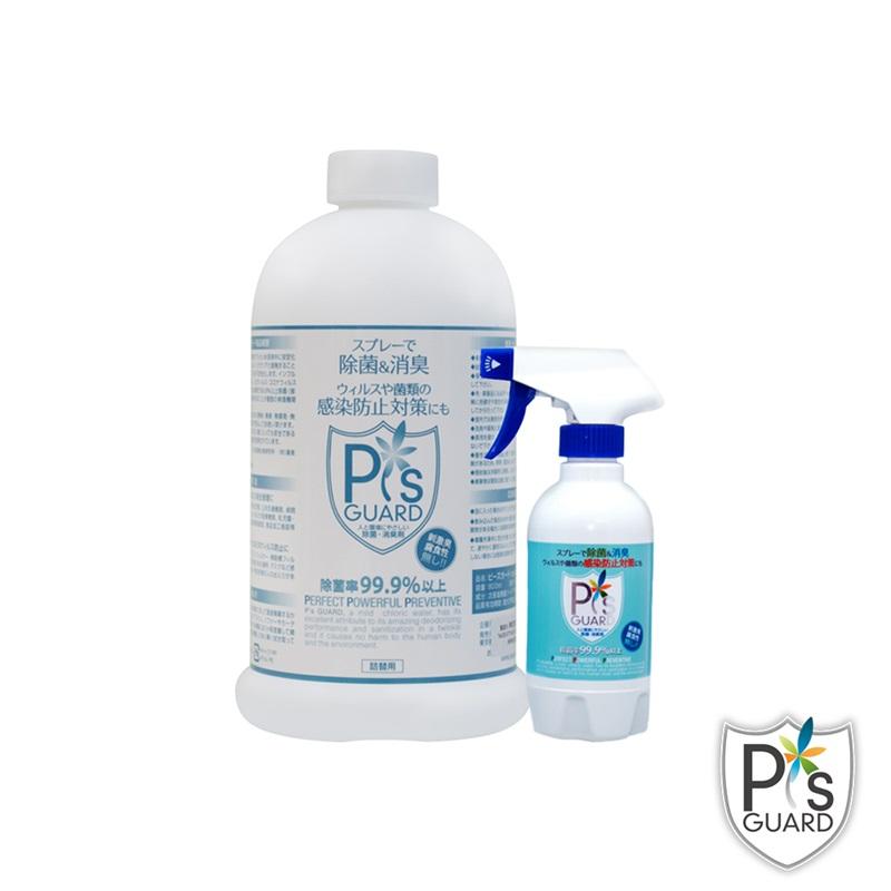 P`s GUARD 居家抗菌組 300ml spray + 800ml