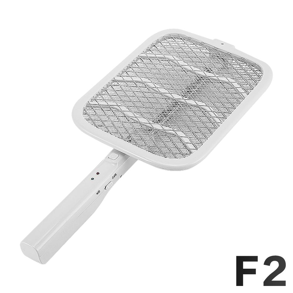 FJ 可伸縮折疊三層網面強力電蚊拍F2 白色