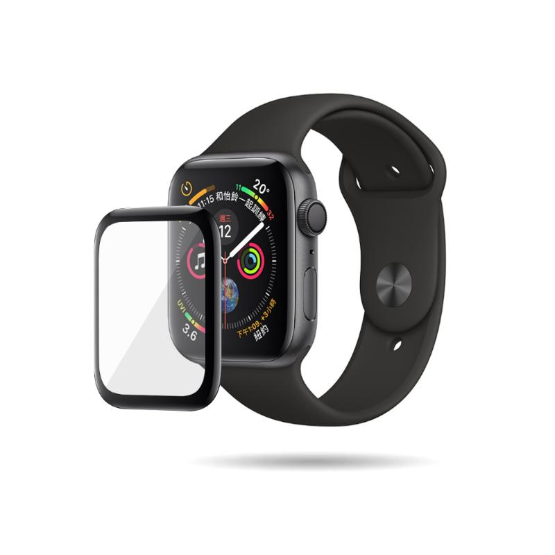MEGA KING 3D滿版玻璃保護貼 Apple Watch 40mm 黑