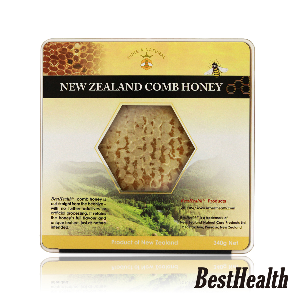 【Best Health】紐西蘭蜂巢蜂蜜(340g)