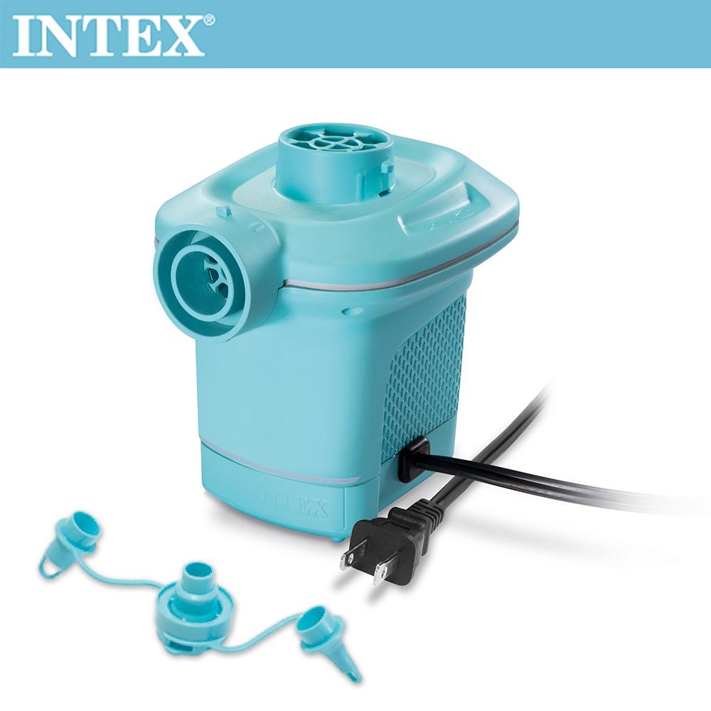 【INTEX】110V家用電動充氣幫浦(充洩二用)-水藍色(58639)