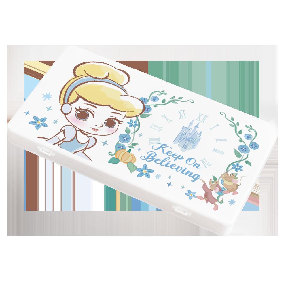 【收納王妃】迪士尼 (仙杜瑞拉)-Q版公主系列 防疫必備口罩盒/零錢盒/收納盒/文具盒