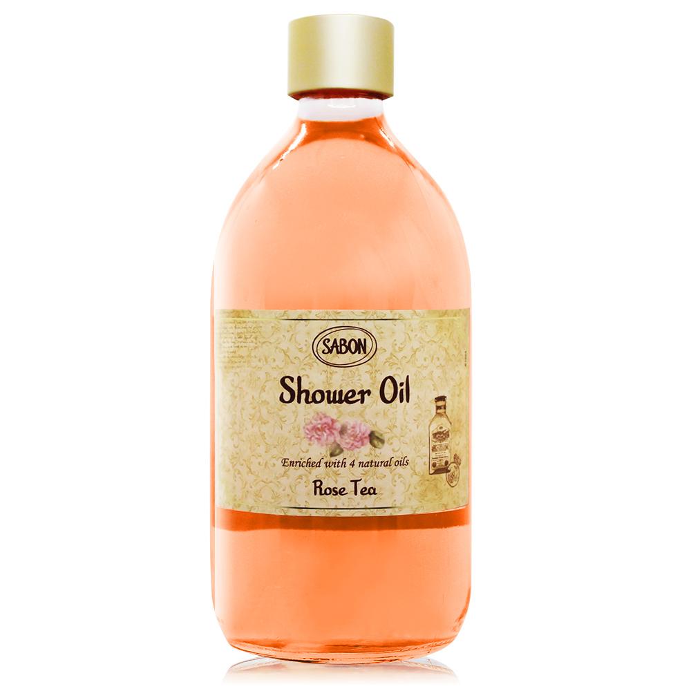 SABON 玫瑰茶語沐浴油(500ml)-國際航空版