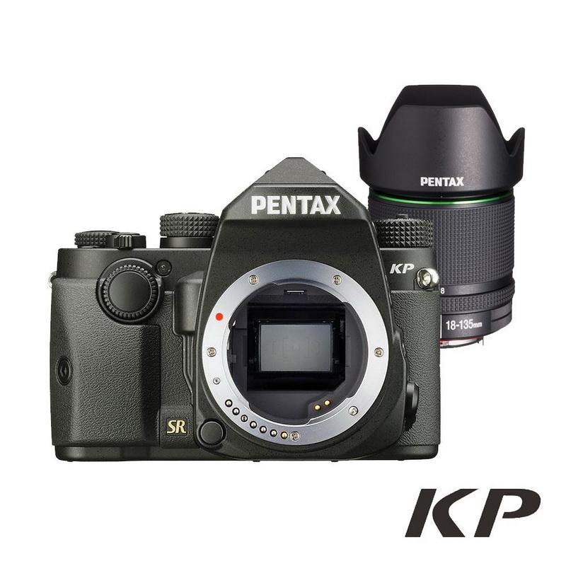 PENTAX KP+DA18-135 WR 防滴防塵旅遊鏡組_黑色【公司貨】 上網註冊送對應之電池手把