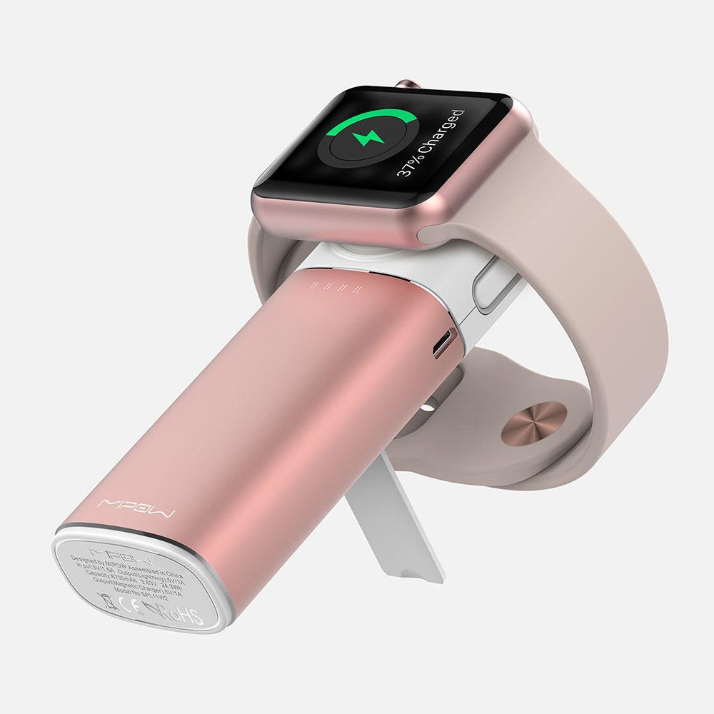 【Mipow】Apple Watch / iPhone 雙認證行動電源 (6000 mAh) - 玫瑰金