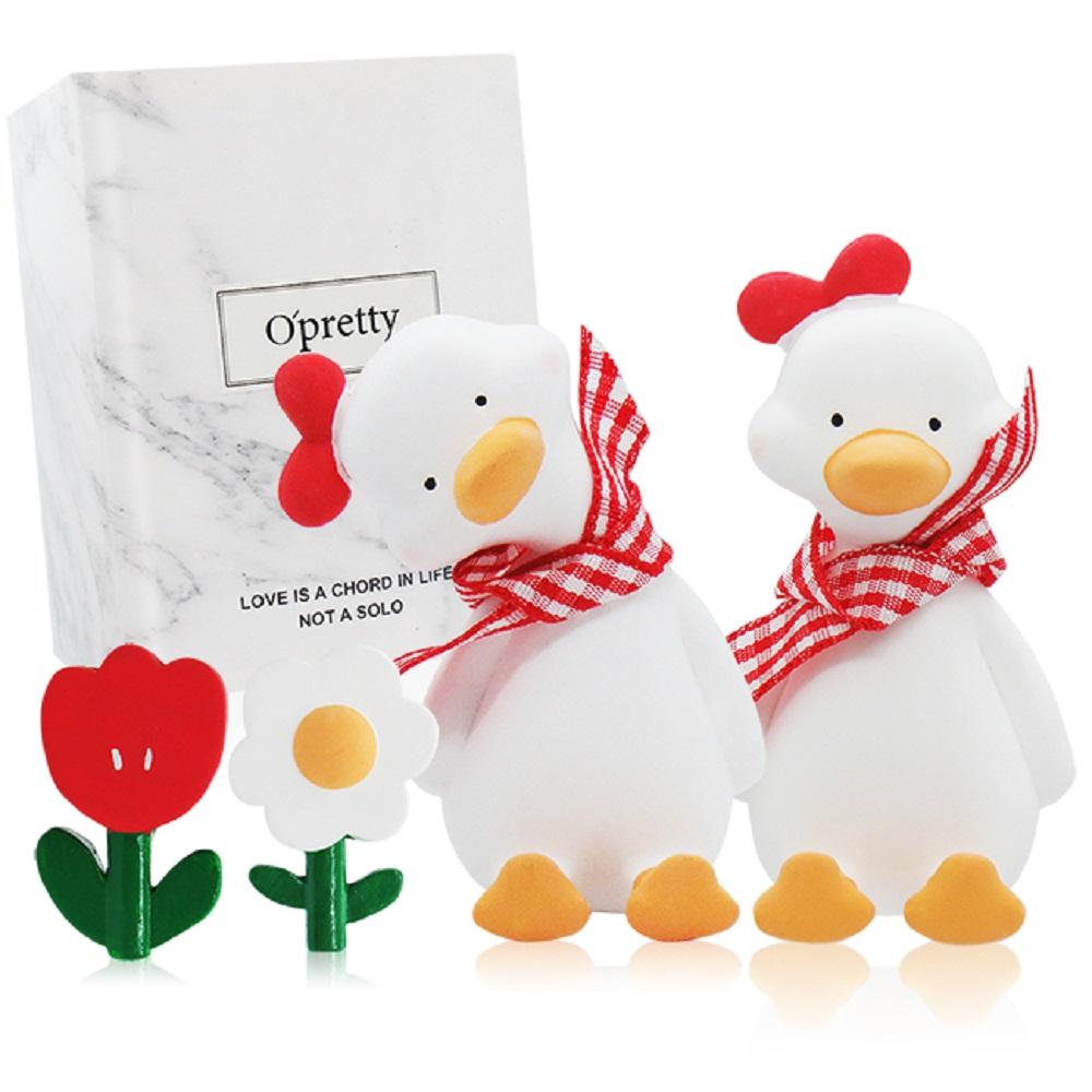 O'Pretty 歐沛媞 車用香氛擴香石擺飾-元氣加油鴨禮盒(紅色)