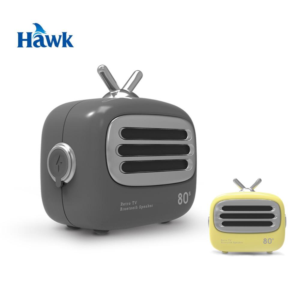 Hawk Mini TV無線藍牙喇叭-奶油黃