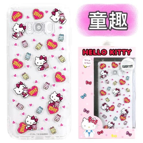 【Hello Kitty】SAMSUNG Galaxy S8+ / S8 Plus 彩繪空壓手機殼(童趣)