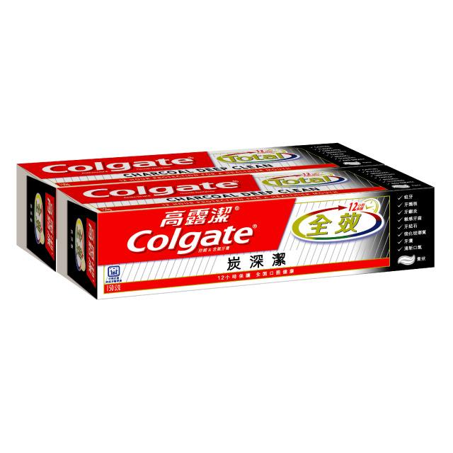 高露潔 全效炭深潔牙膏150g*2入裝