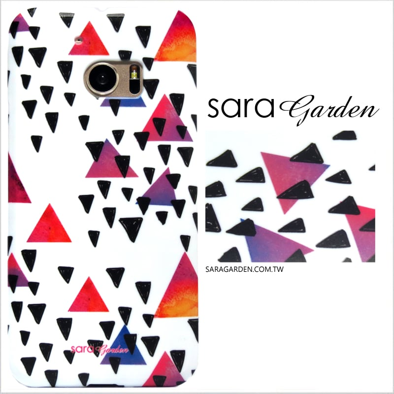 【Sara Garden】客製化 手機殼 HTC M10 10 幾何三角 曲線 手工 保護殼 硬殼