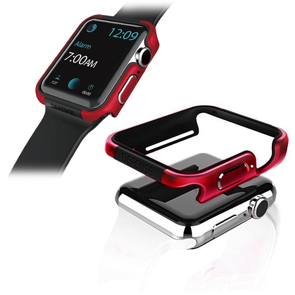 刀鋒Edge系列 Apple Watch 4 (44mm) 鋁合金雙料保護殼 保護邊框(野性紅)
