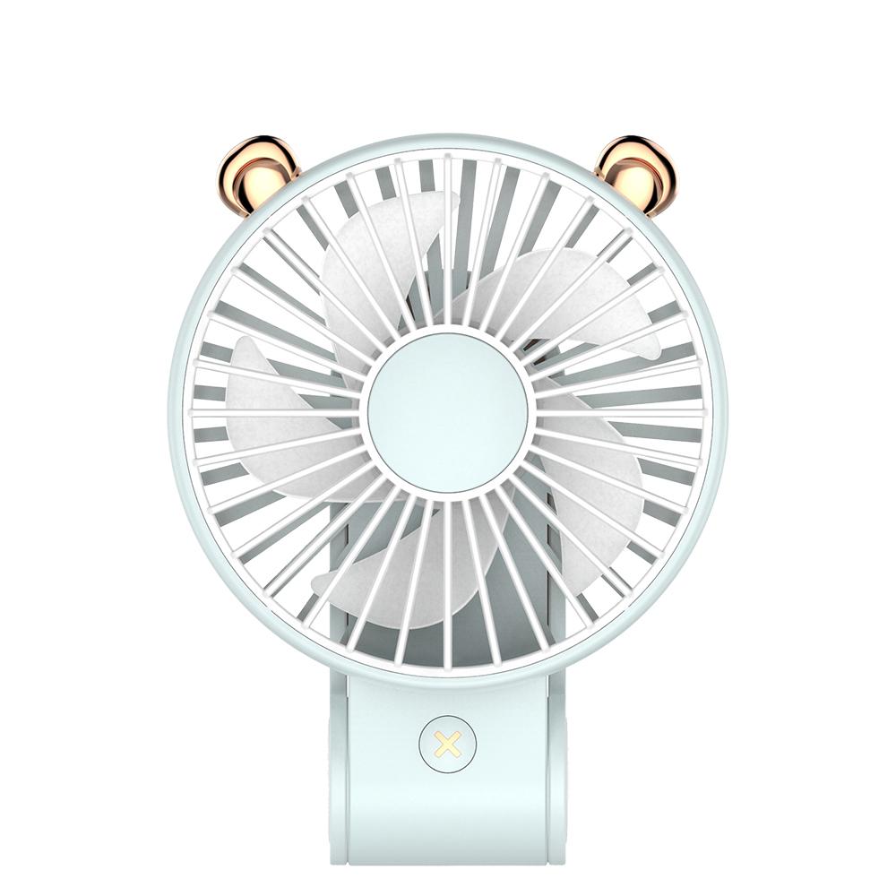 【超萌款】手持可掛可立多功能風扇P23(270度調整風位)藍色
