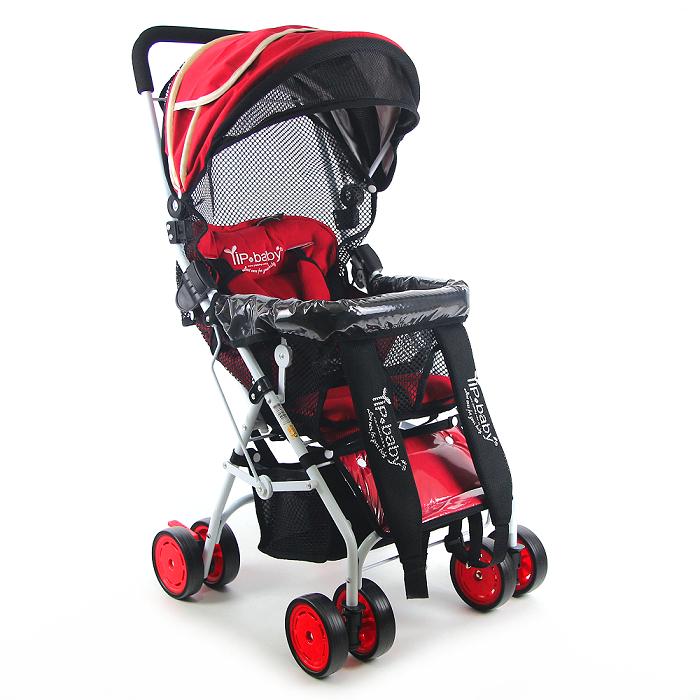 Yip Baby 全罩式多功能揹架推車(專利收折)-火焰紅