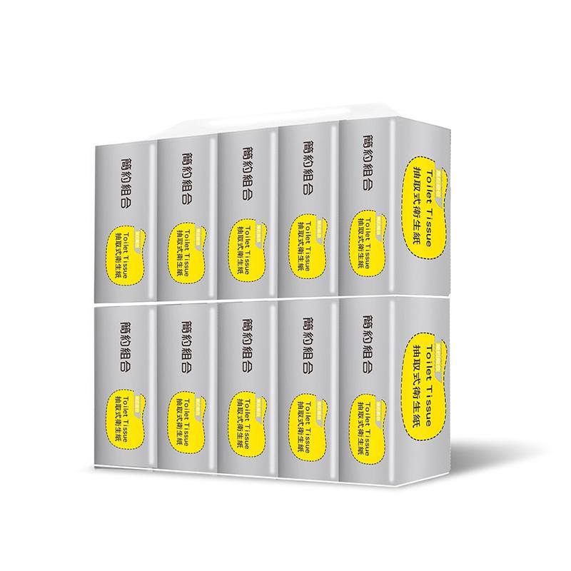 【簡約組合】銀色款優質抽取式衛生紙 (100抽x8包x10串/箱)